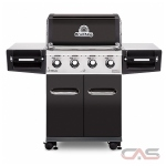 BroilKing Regal 956214 BBQ Grill, 56.3'' Width, Liquid Propane, 4 Burners, 695 Cooking Area (in.), 50000 Burner Output (BTU)