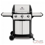 BroilKing Signet 986854 BBQ Grill, 56.5'' Width, Liquid Propane, 3 Burners, 635 Cooking Area (in.), 40000 Burner Output (BTU)
