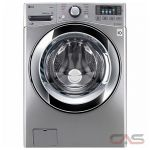 LG WM3670HVA Front Load Washer, 27'' Width, Energy Efficient, 5.2 Cu. Ft. Capacity, 12 Wash Cycles, 5 Temperature Settings, Stackable, 1300 Washer Spin Speeds (RPM), Steam Clean