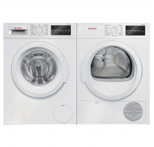 "Bosch WAT28400UC 24"" Front load Washer with 2.2 cu.ft<br>Bosch WTG86400UC 24"" Compact Electric Dryer with 4.0 cu. ft."